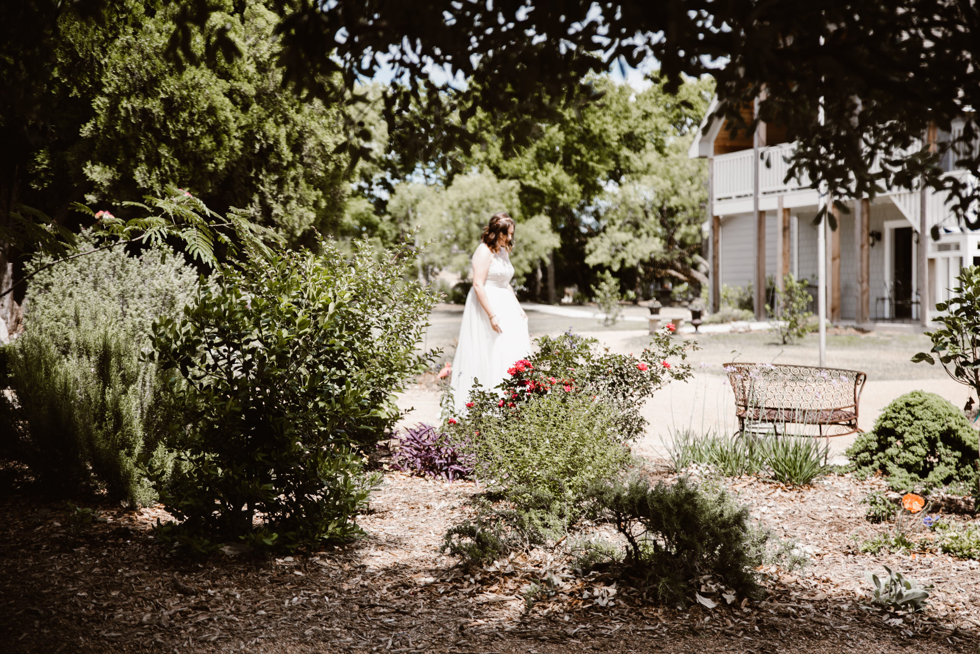 Bride Walking To Her Groom For Their First Look Texas Wedding Photographer The Dennisos Ceremony At Stonebridge Venue